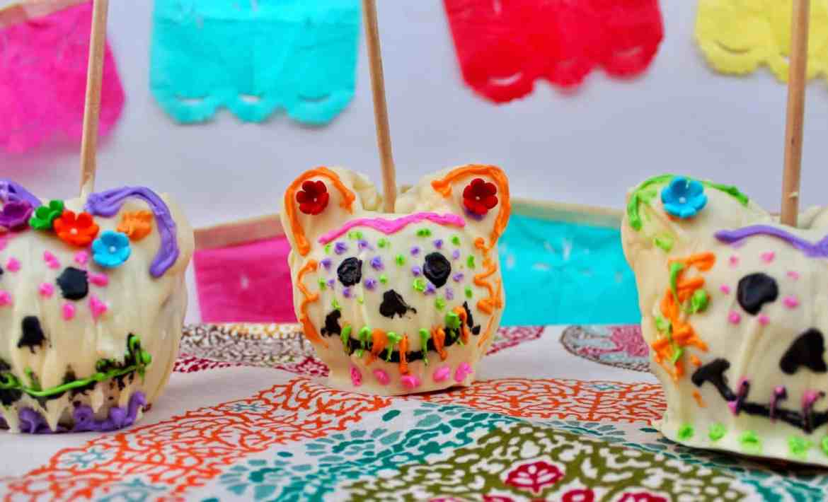 Caramel Apple Sugar Skulls Inspired By Disney Pixar S Coco Kait Around The Kingdom