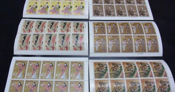未使用 切手趣味週間 1959~1964 10円×10枚×6シート