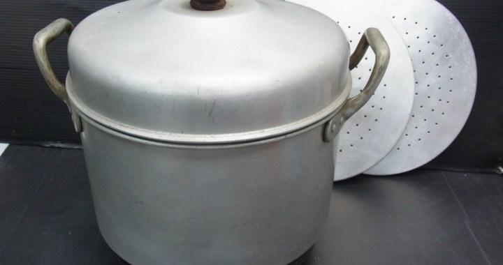 昭和レトロ アルミ製 炊飯釜 鍋 直径 約28cm 中古品