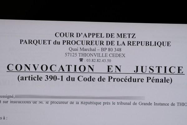 Convocation en justice