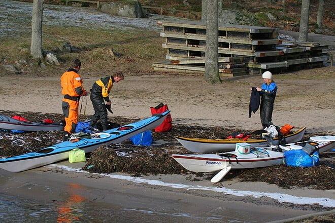 La i vid Vägga i Karlshamn, första stället vi hittade öppet vatten på ;-)