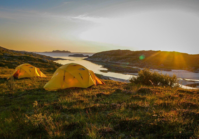Tältplats som fårduga :) Helgelandskusten. Strax norr om Rødøya