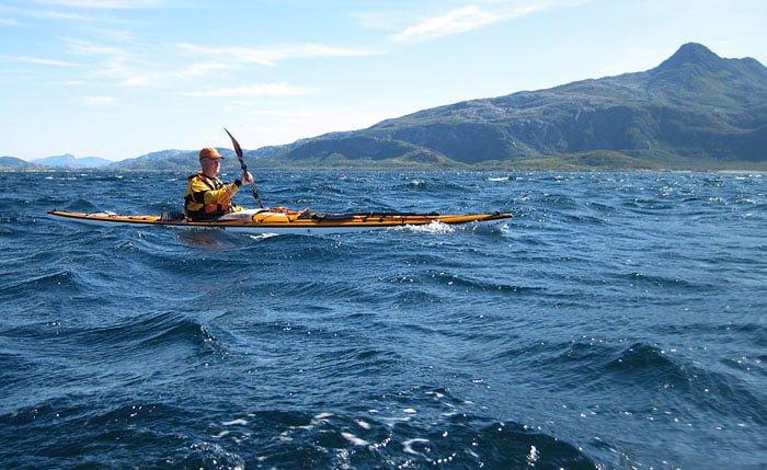 Erik på väg söderut, strax utanför Dønnamannen