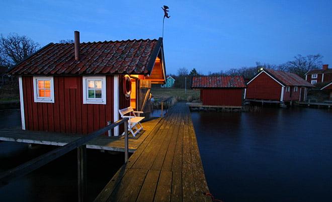 Bastun på bryggan på Örö