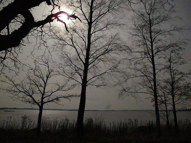 Nattljus på Örö