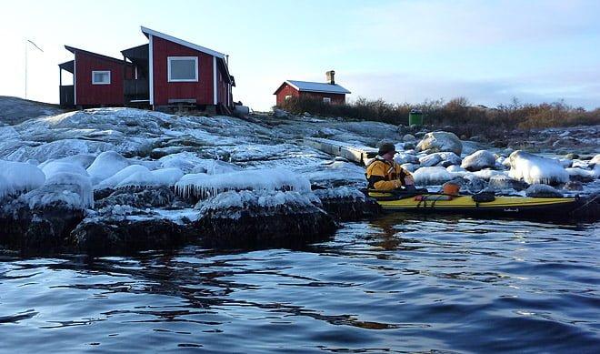 Jonas på väg ut från Valö