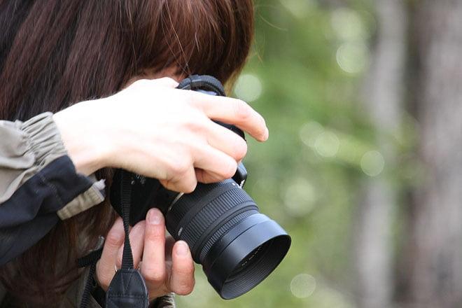 Fotonördar på fotoworkshop