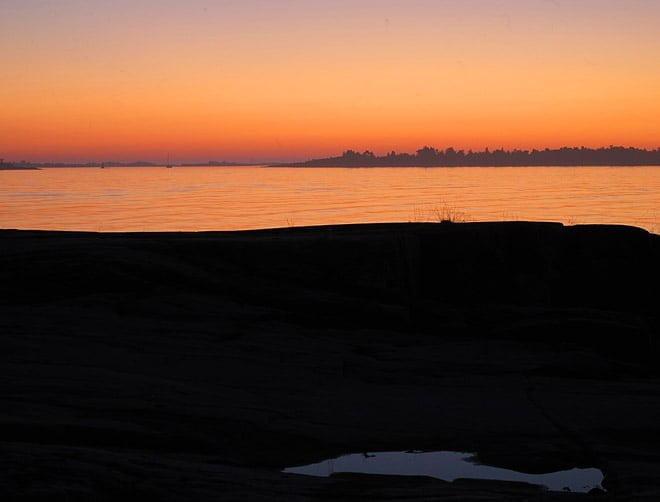 En av många vackra solnedgångar