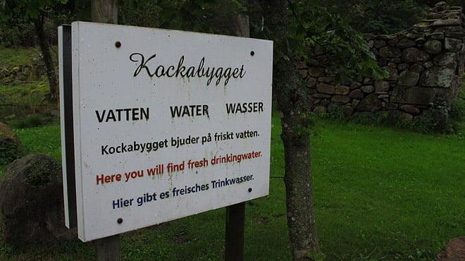 Vattenpåfyllning vid Kockabygget