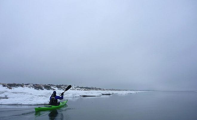 Plattvatten innerst i Skälderviken nedanför Klitterhus