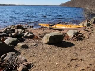 Uppe vid Västersjön. Drygt halva sjön isfri