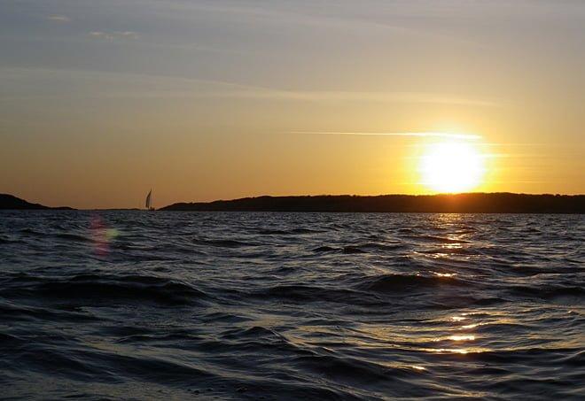 Solnedgång över Vrångö