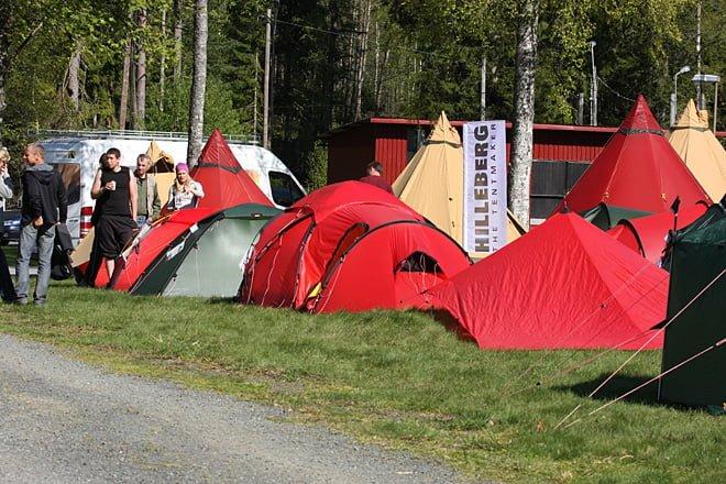 Rejäl tältutställning med drygt 50 uppslagna tält var mycket populärt