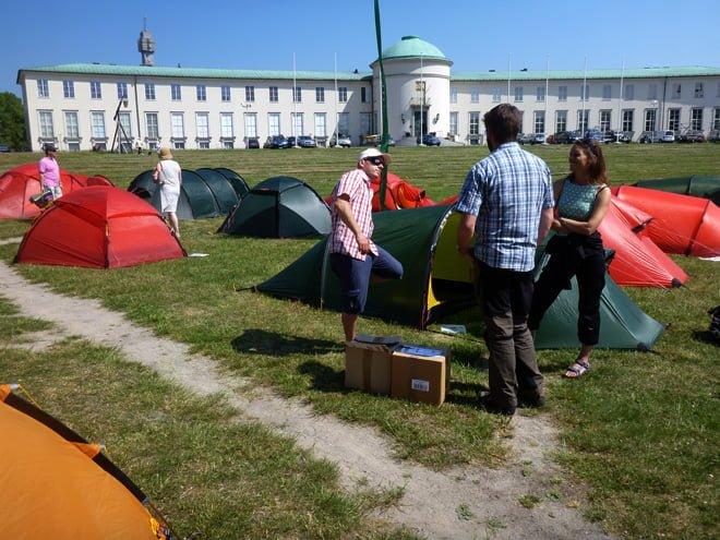 Lite tältutställning. Flest tält från Östersundstillverkaren