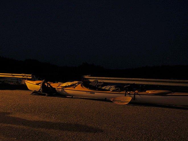 Midnatt i Klintemåla, men så värst mörkt var det ju inte
