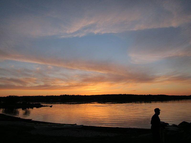 Solnedgång in mot Matvik
