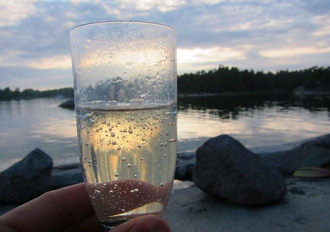 Fint med bubbel på en klipphäll i kvällsljus :)