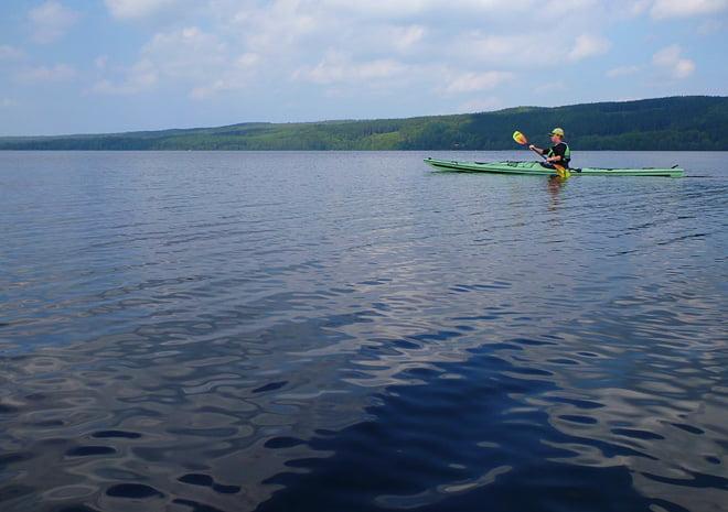 Platt & lugnt på Västersjön