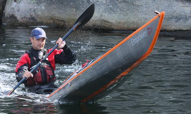 Nicolai i Arrow Kayaks Empower - ser lite baktung ut den modellen, men finfärgad trim! ;)