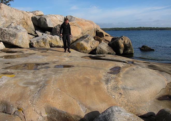 fina klippor på Bockös nordsida