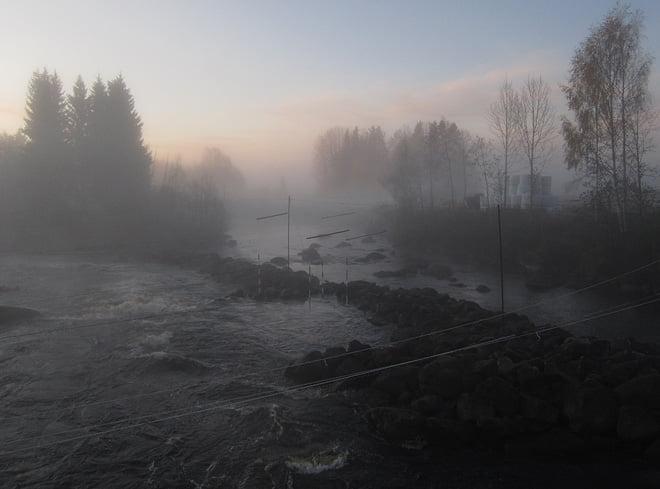 Morgondis över Lissforsen