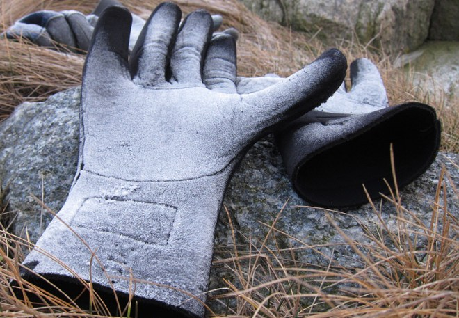 Svala handskar, tur vi inte började paddla så tidigt