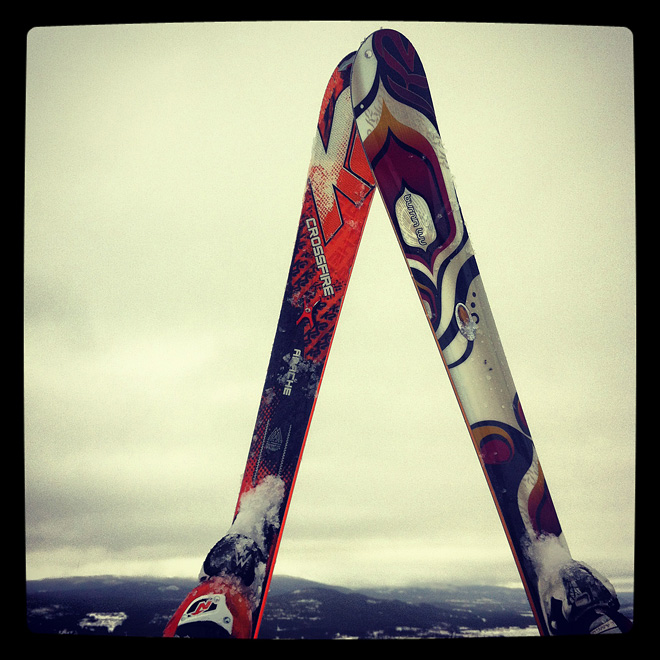 Skidorna först