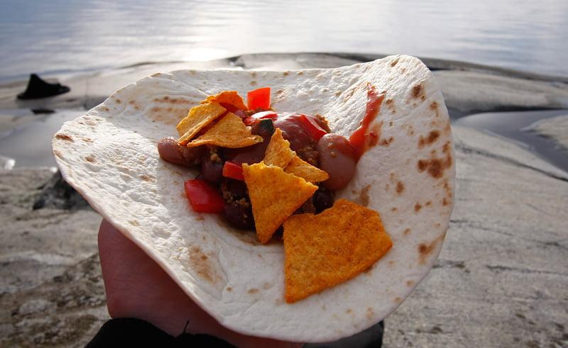 Kvällsmat, Taco. Gott :)