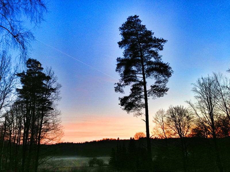 Solnedgång, Knäckebröhult den 19 november 2012
