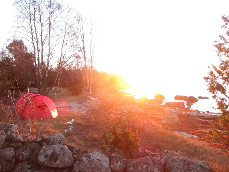 Soluppgång. Hilleberg keron 3