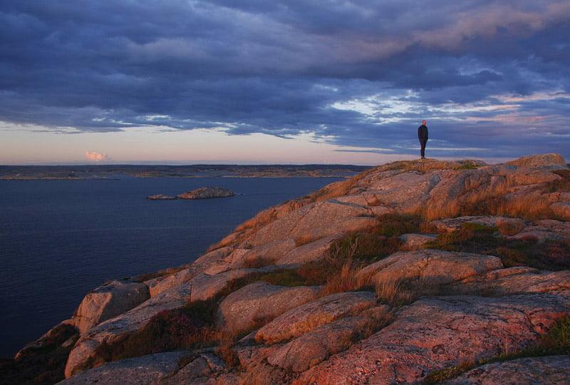 Toppen på Norra Dyngön i Fjällbacka skärgård