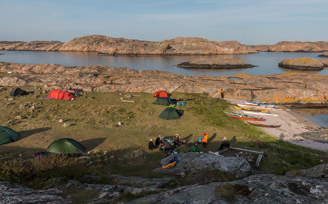 Läger på Långeskär
