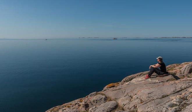 Spanar på platt Väderöfjord