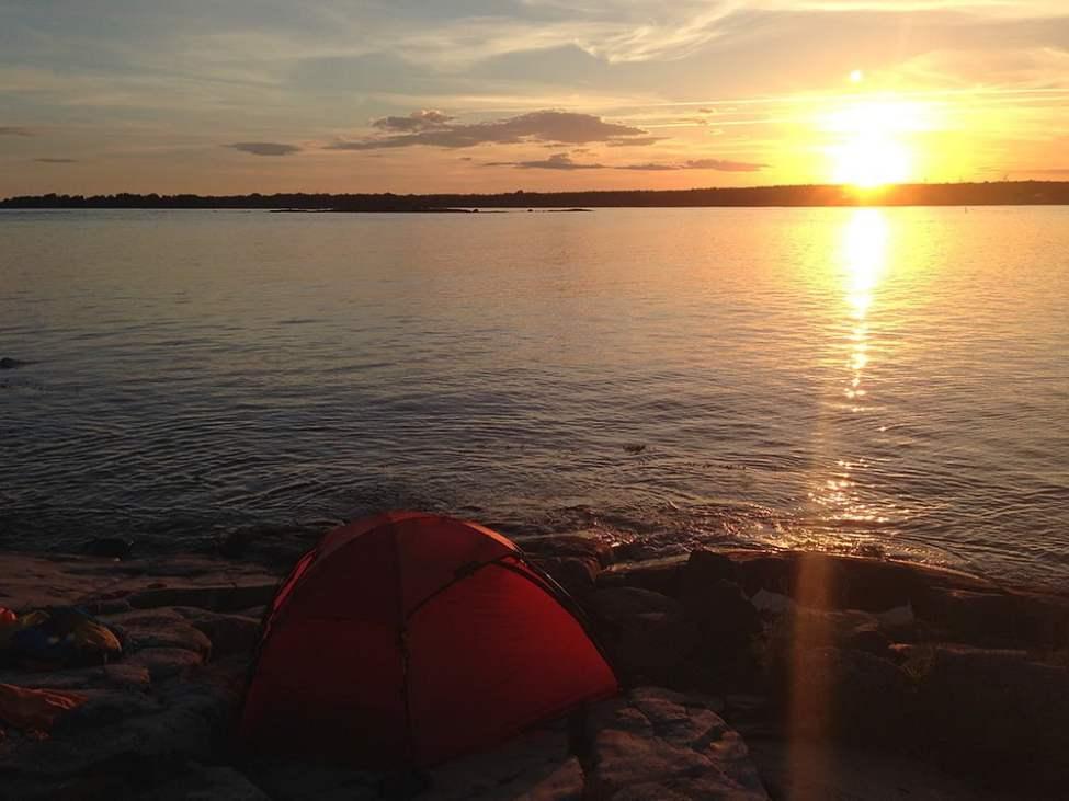 Finfin junisolnedgång på Dunsö