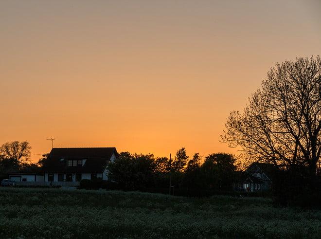 Solnedgång i Fårösund