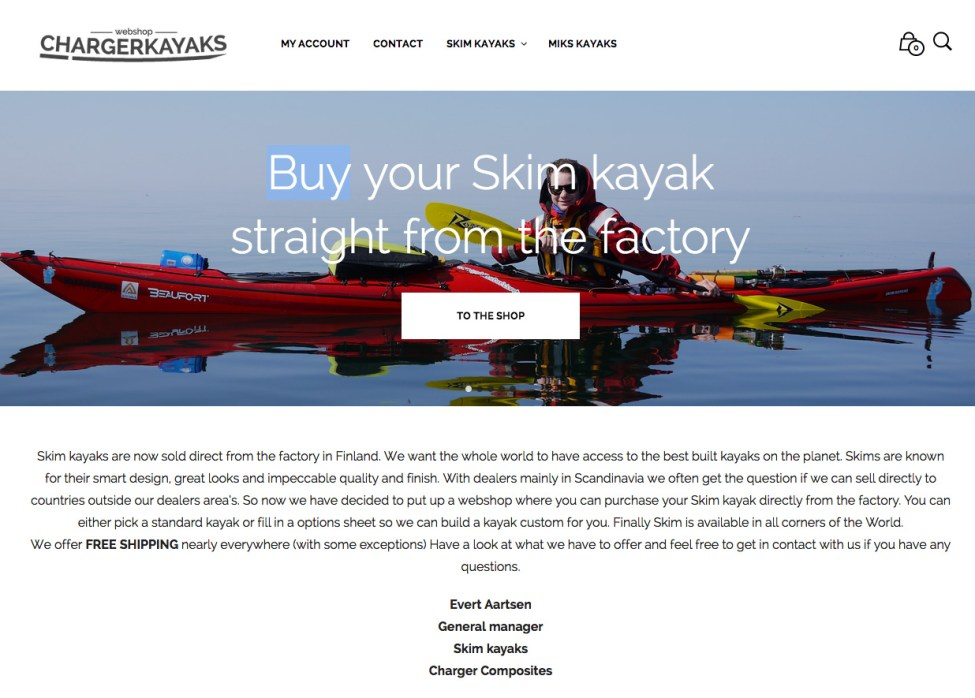 Charger Kayaks webshop