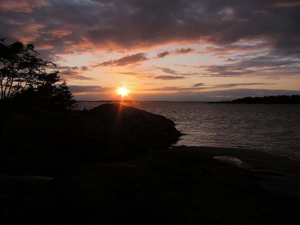 Solnedgång på Klåvskär