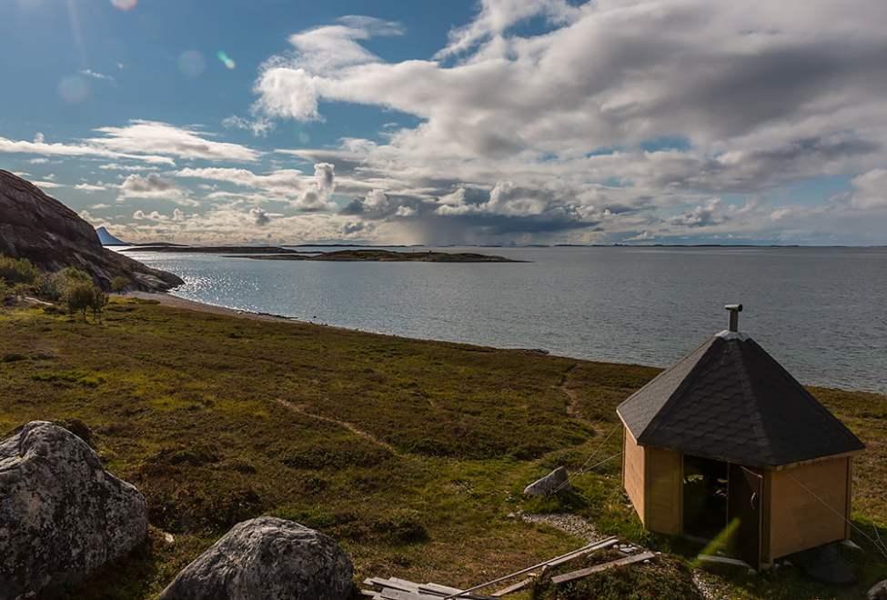 Trimkassen på norra Lurøy. Här kan man nog hänga en stund