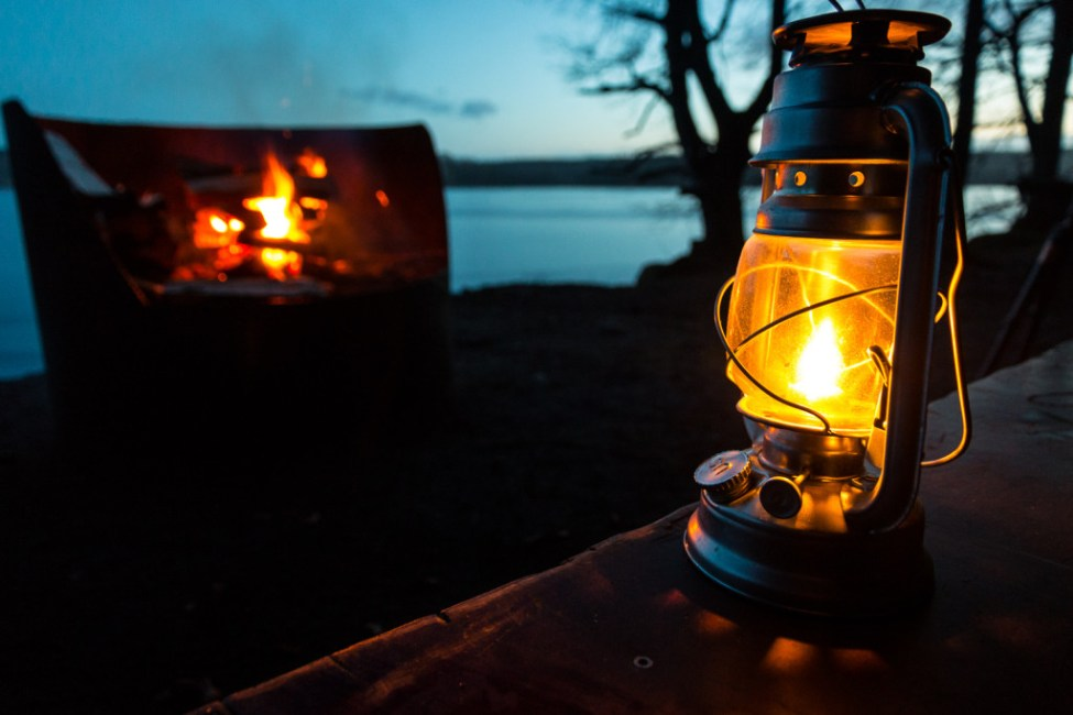 Lärkesholmsjön. Go natt i vindskydd
