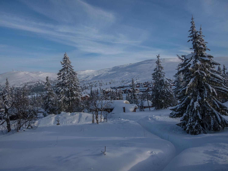 Fårdugaväder och drygt en meter snö