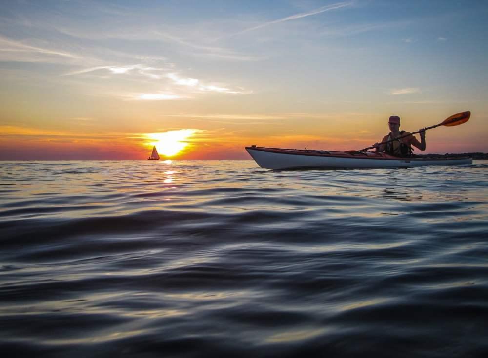 Båt & Kajak på Skälderviken i go solnedgång