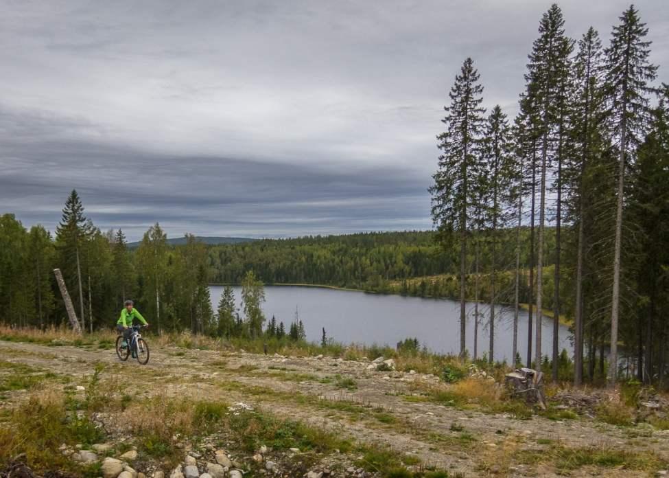Lite cykling innanför Friluftsbyn/Skuleberget