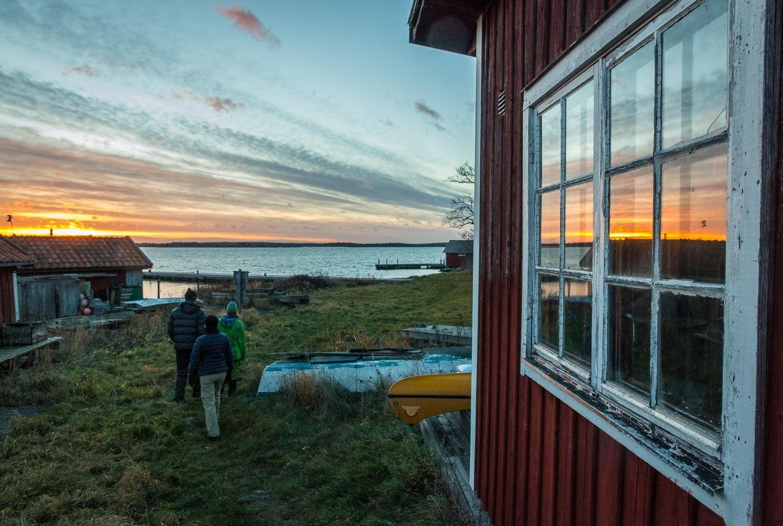 Solnedgång på underbara Örö i MIsterhults skärgård