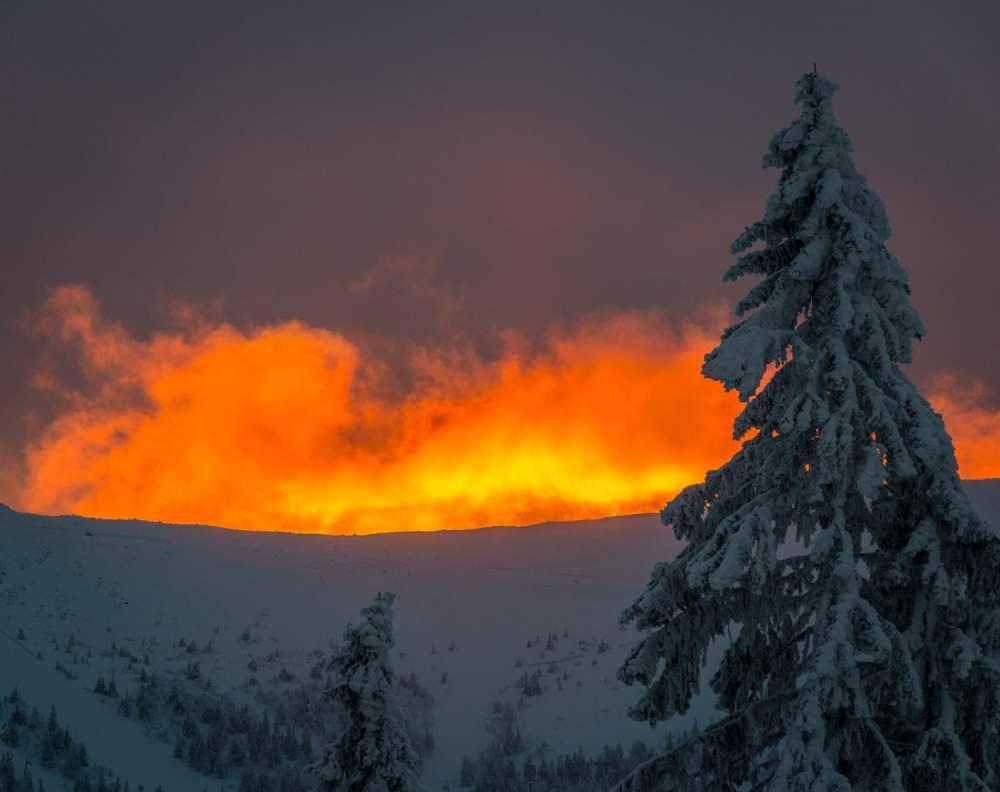 Färggranna soluppgångar