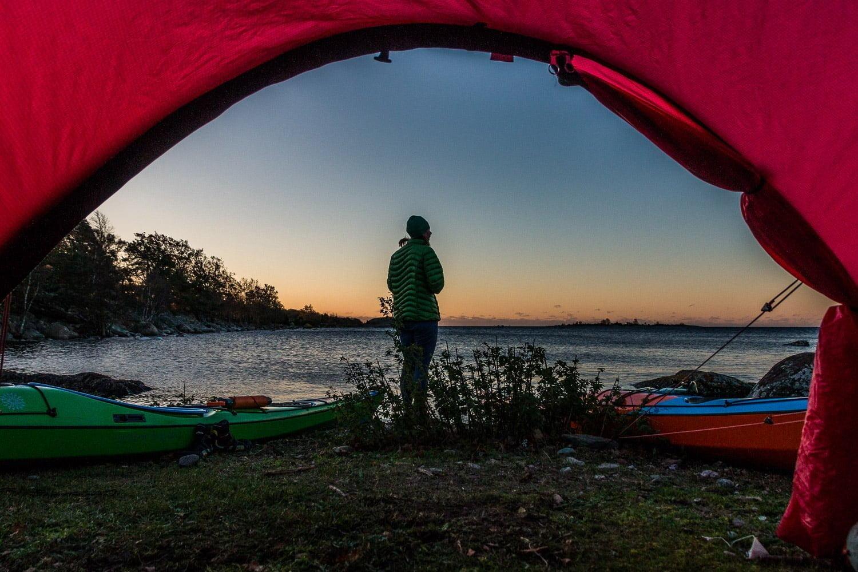 Snart soluppgång på Slädö