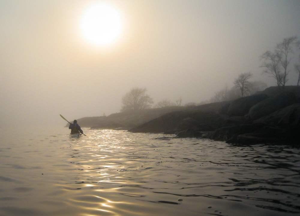 Pia i dimma vid Långviksskär