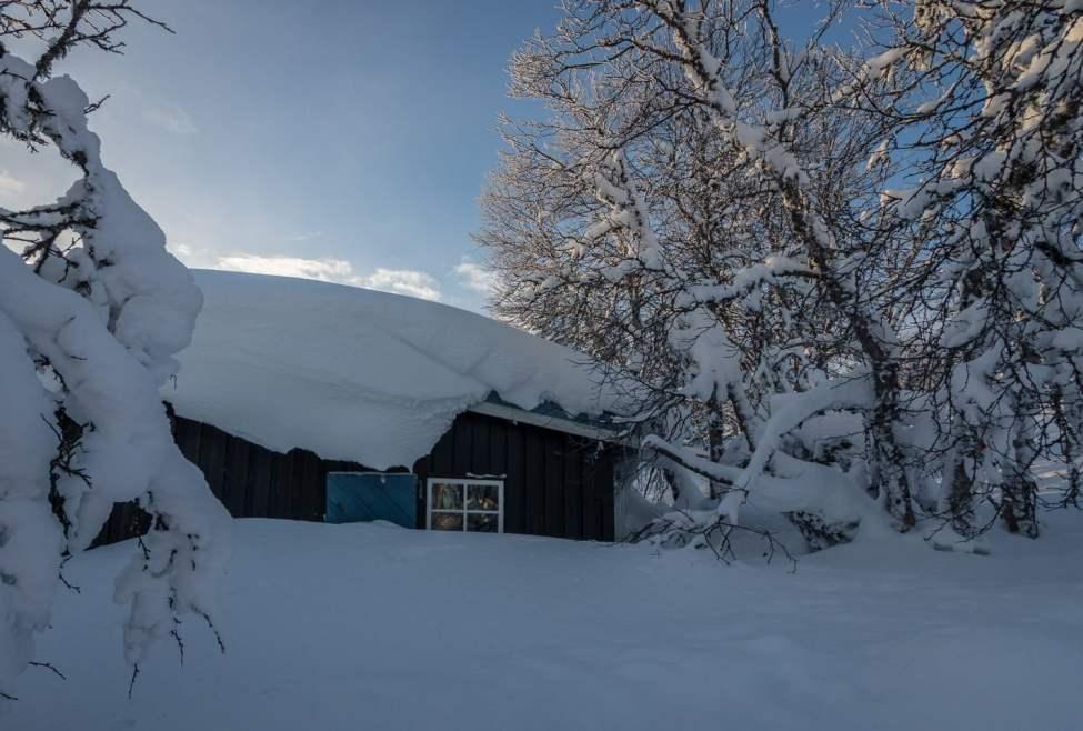 Snöade lite mer efter denna bilden innan vi åkte söderut