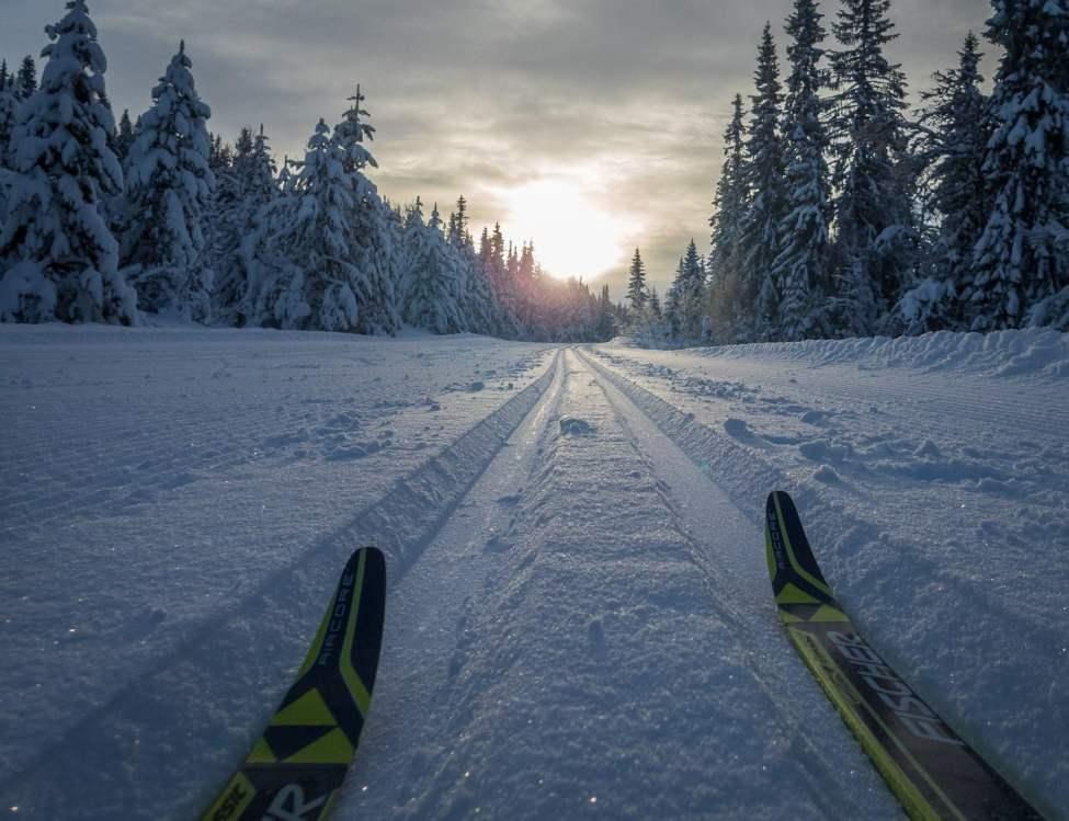 Perfekta spår, här på väg mot Svesætra
