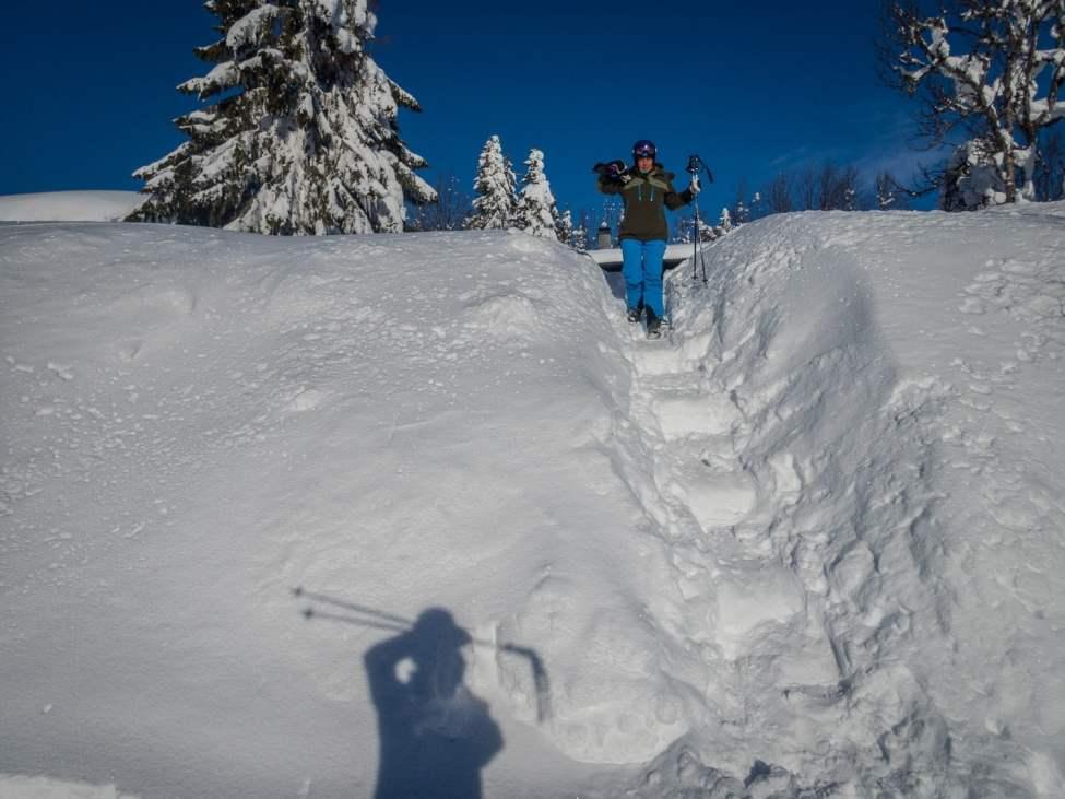Trappa av snö