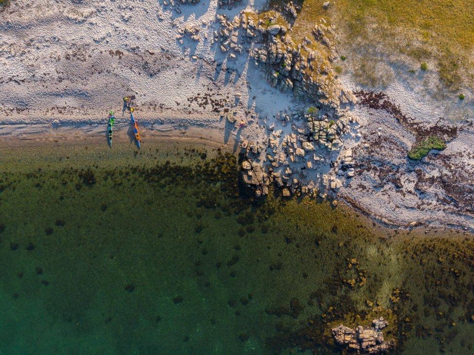 Sandhamnspaus sett uppifrån